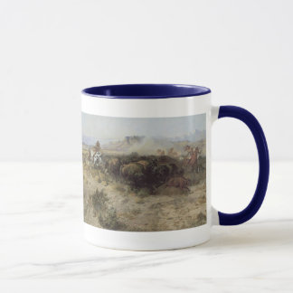 Buffalo Hunt No. 26 by CM Russell, Vintage Indians Mug