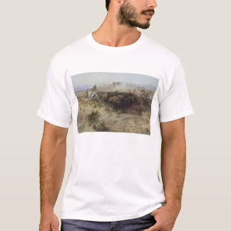 Buffalo Hunt No. 26 by CM Russell, Vintage Indians T-Shirt