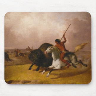 Buffalo Hunt on the Southwestern Plains - 1845 Mouse Pad