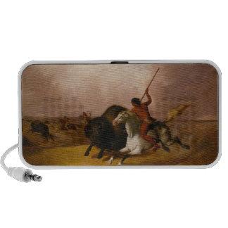Buffalo Hunt on the Southwestern Plains - 1845 Mini Speaker