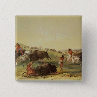 Buffalo Hunt Pinback Button