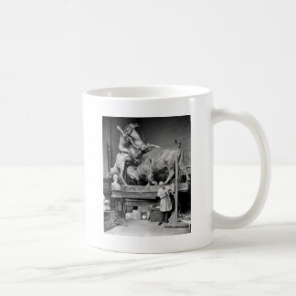 Buffalo Hunt Sculpture, early 1900s Coffee Mug