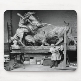 Buffalo Hunt Sculpture early 1900s Mousepads