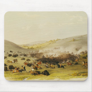 Buffalo Hunt, Surround, c.1832 Mouse Pad