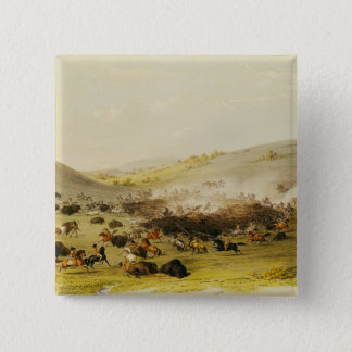 Buffalo Hunt, Surround, c.1832 Pinback Button