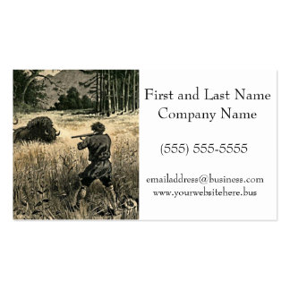 Buffalo Hunt Wild West Frontiersman Illustration Double-Sided Standard Business Cards (Pack Of 100)
