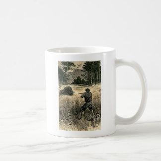 Buffalo Hunt Wild West Frontiersman Illustration Mug