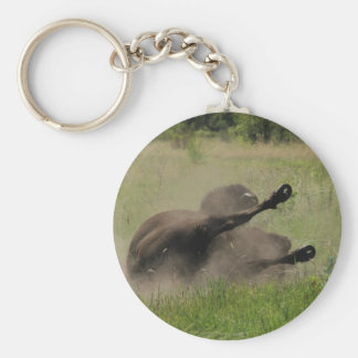 Buffalo In Field Keychain