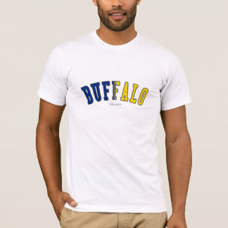 Buffalo in New York state flag colors T-Shirt