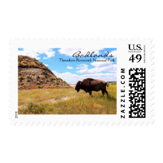 Buffalo in the Badlands, ND Postage