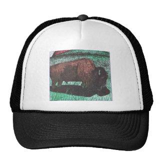 Buffalo ink drawing trucker hat
