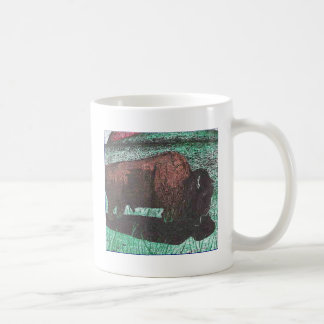 Buffalo ink drawing classic white coffee mug
