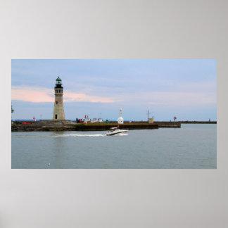 Buffalo Lake Erie Lighthouse Poster