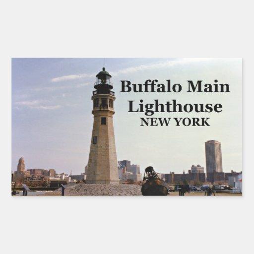Buffalo main lighthouse new york stickers zazzle for Craft stores buffalo ny