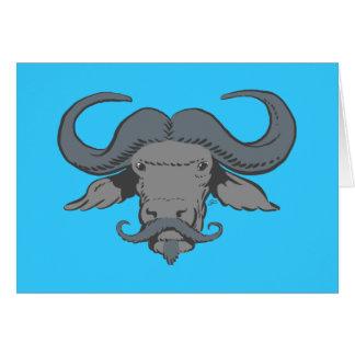 Buffalo Moustache Card