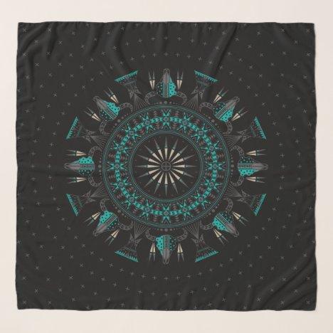 Buffalo Nation (Aqua) scarf