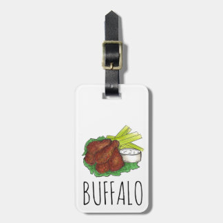 Buffalo New York BBQ Chicken Wings Luggage Tag