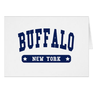 Buffalo New York College Style t shirts Greeting Cards