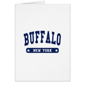 Buffalo New York College Style t shirts Greeting Card