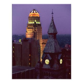 Buffalo, New York County and City Hall Buildings Art Photo