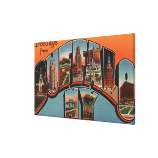 Buffalo, New York - Large Letter Scenes Canvas Print