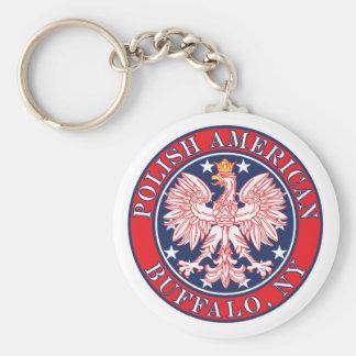 Buffalo New York Polish Keychain