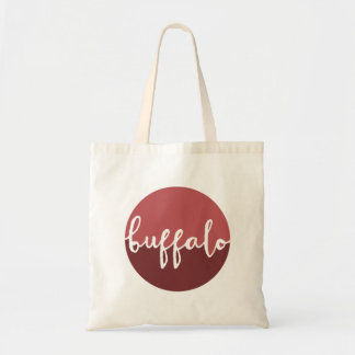 Buffalo, New York | Rust Circle Ombre Tote Bag