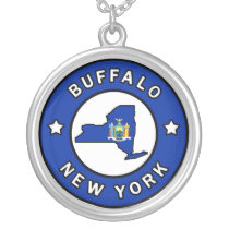 Buffalo New York Silver Plated Necklace
