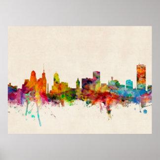 Buffalo New York Skyline Cityscape Poster