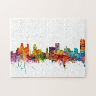 Buffalo New York Skyline Puzzles