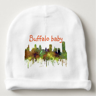 Buffalo New York Skyline SG Safari Buff Baby Beanie