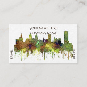Buffalo new york business cards templates zazzle buffalo new york skyline sg safari buff business card reheart Gallery