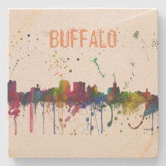 BUFFALO NEW YORK SKYLINE - Stone Coaster