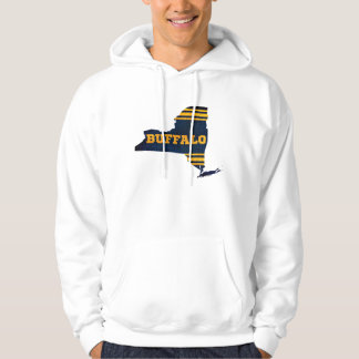 Buffalo New York Sports Colors Map Hoodie