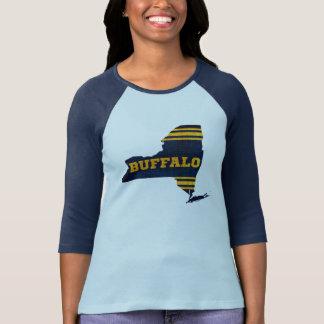 Buffalo New York Sports Colors Map Shirt