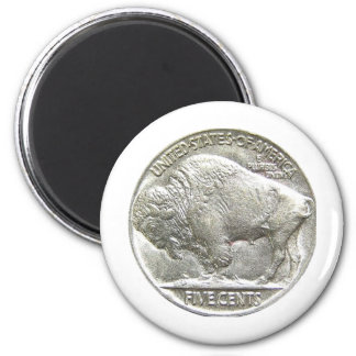 BUFFALO NICKEL 2 INCH ROUND MAGNET
