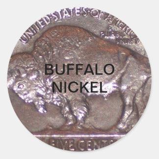 Buffalo Nickel Classic Round Sticker