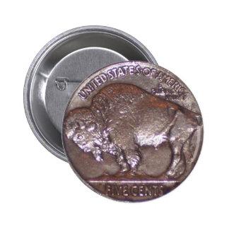 Buffalo Nickel Pinback Button