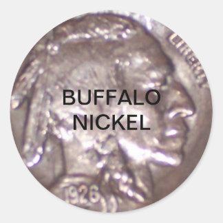 Buffalo Nickel Round Sticker