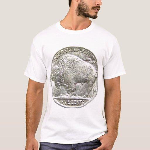 Buffalo nickel t shirt zazzle for Custom t shirts buffalo ny