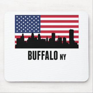 Buffalo NY American Flag Mouse Pad