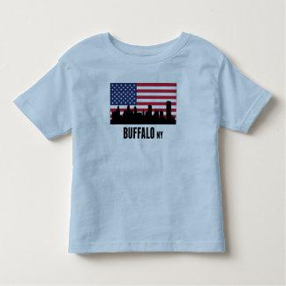 Buffalo NY American Flag T-shirt
