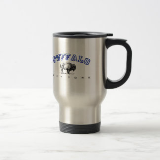 Buffalo, NY - Bison 15 Oz Stainless Steel Travel Mug