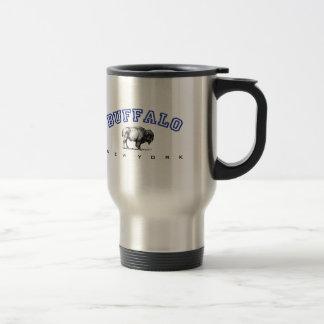 Buffalo, NY - Bison Travel Mug