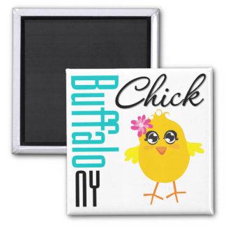 Buffalo NY Chick 2 Inch Square Magnet