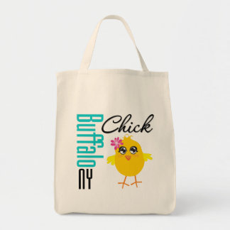Buffalo NY Chick Grocery Tote Bag
