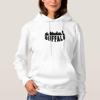 Buffalo NY Cityscape Skyline Hoodie