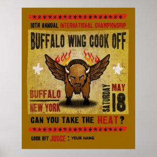 Buffalo, NY - Fire Hot Buffalo Wing Cook-Off Poster