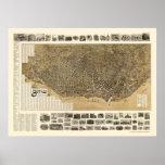 Buffalo, NY Panoramic Map - 1902 Poster