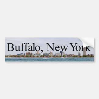 Buffalo NY Skyline with Buffalo in the Sky Sticker